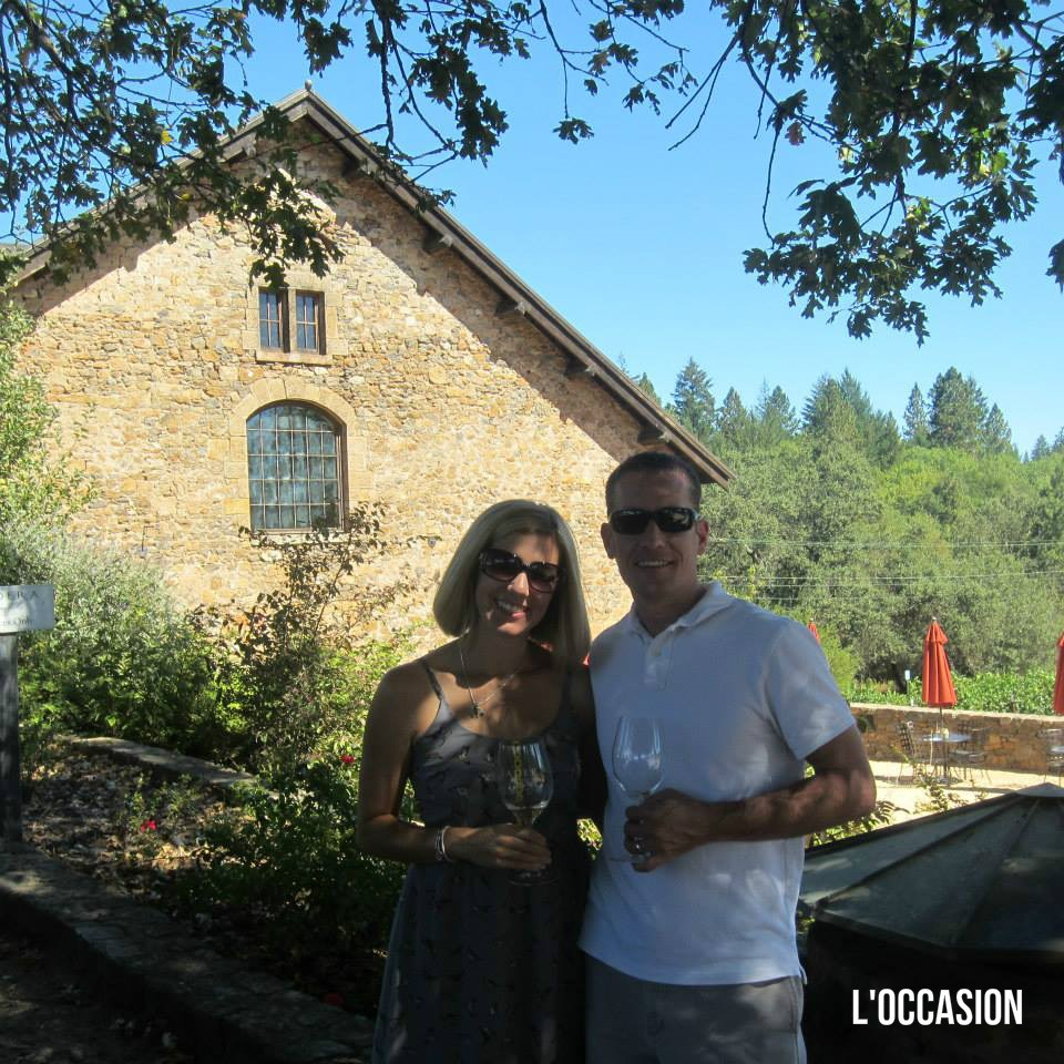 Megan and her husband enjoying the day at Ladera.