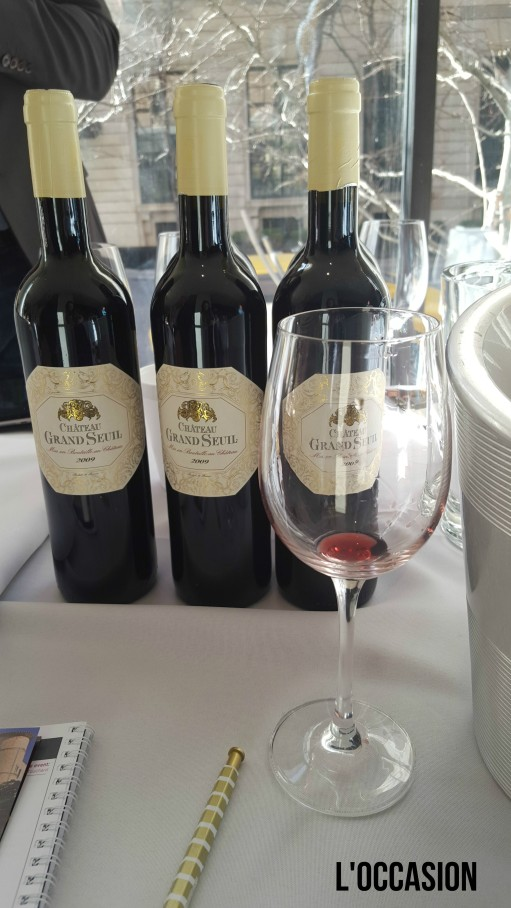 The gorgeous red from Château du Seuil
