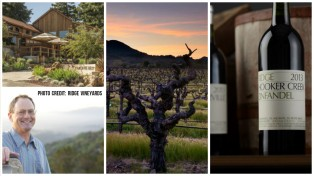 Clockwise: Monte Bello tasting room, Hooker Creek vineyards, Hooker Creek 2013, David