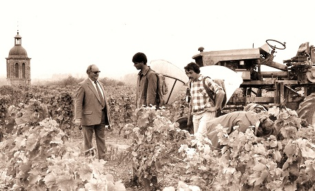 Credit: Domaine Huet website. Gaston Huet with Jean Bernard Berthome at Clos du Bourg.