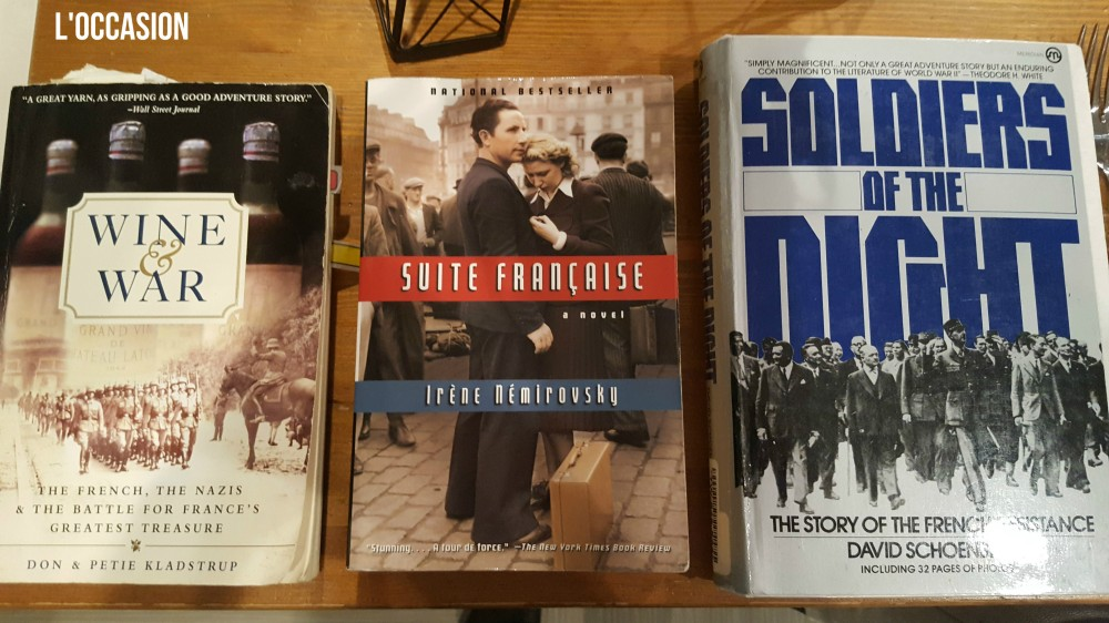 Three books that I've used for years to research the time period of wine in WW2.