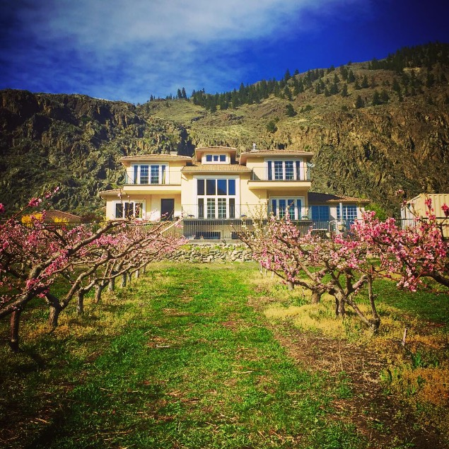 The beautiful property of Corcelettes, Credit: BC Wine Trends