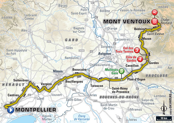 Map Credit: Tour de France