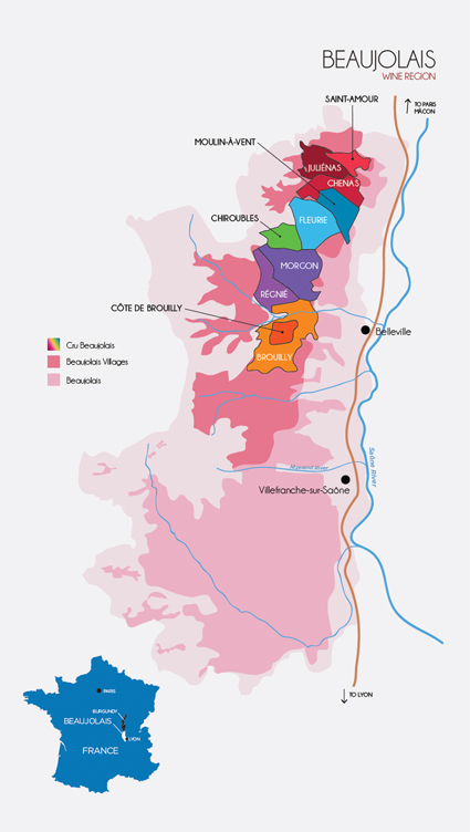 Where is Beaujolais? Is Beaujolais in Burgundy? Wine Map