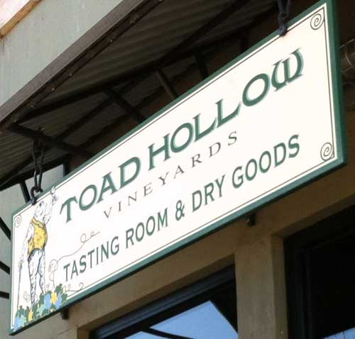 Welcome to Toad Hollow in downtown Healdsburg, Credit: Toad Hollow Vineyards