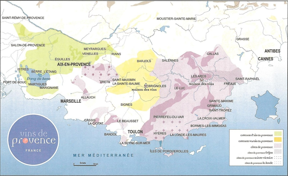 Provence-wine-map