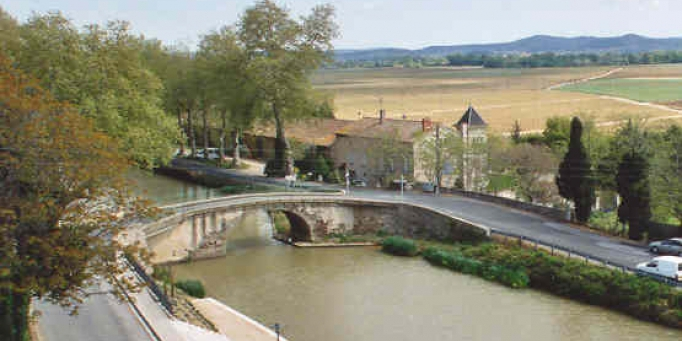 A view of the Canal du Midi