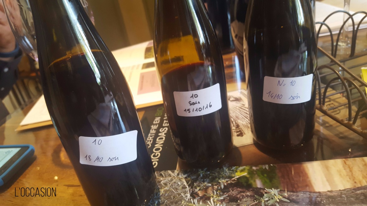 Barrel samples, wine Gigondas, Vacqueras