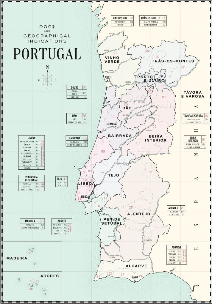 Map of Wine, Portuguese Wine Map, DOC Wine,
