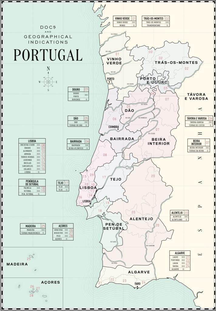 Map of Wine, Portuguese Wine Map, DOC Wine,