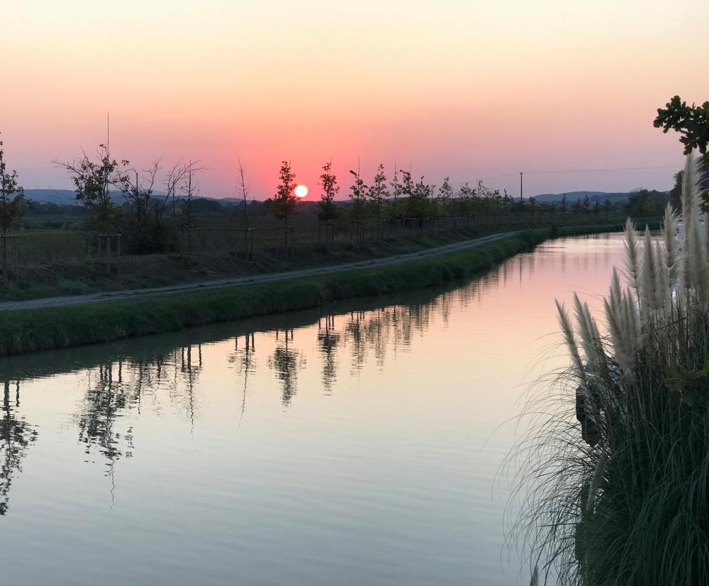 Canal du Midi, Ventenac, French Wine, Minervois