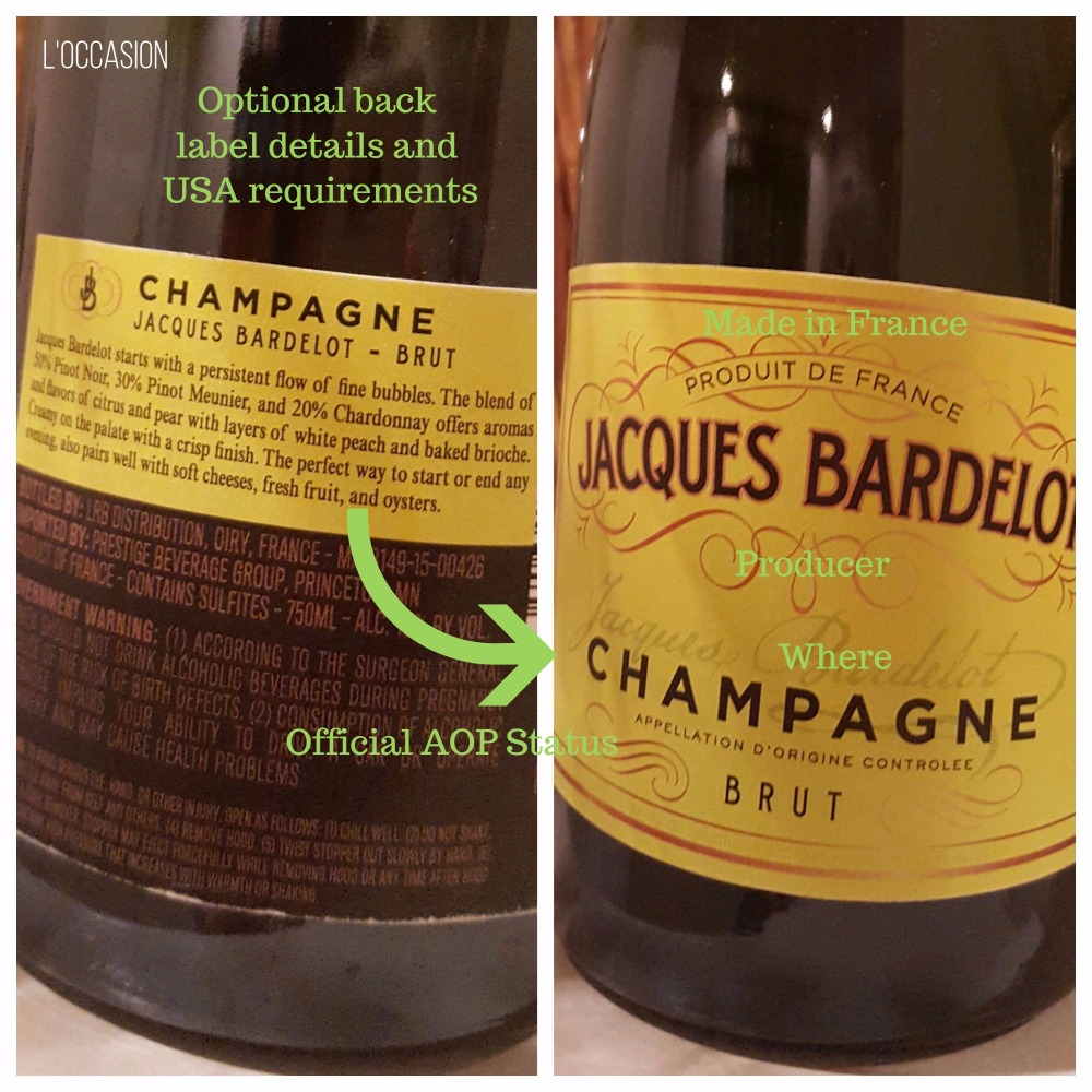 How to read a wine label, how to read a French wine label, where is Champagne, What is Champagne
