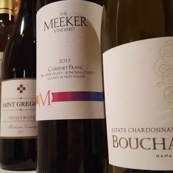 Chardonnay, Cabernet Franc, Pinot, Albarino, Merlot