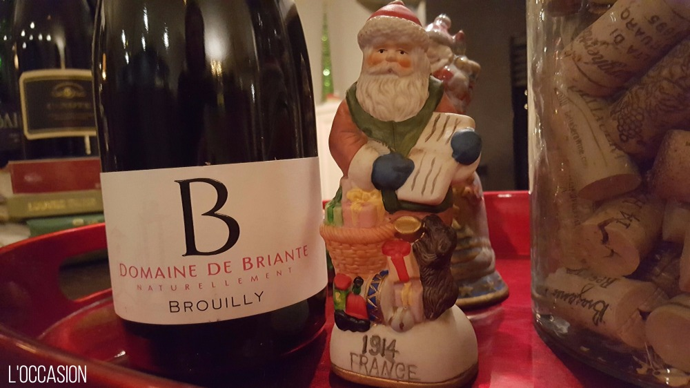 Beaujolais, Food friendly wine, santa baby, Brouilly