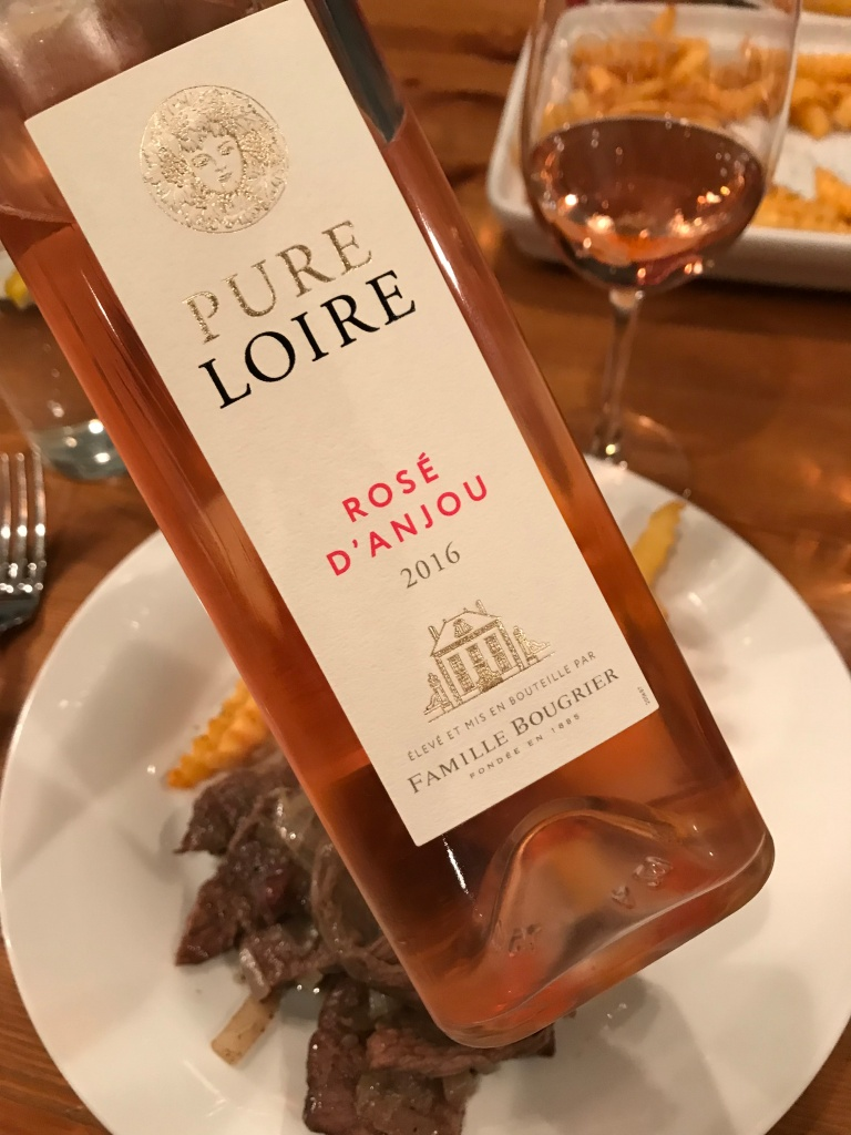 rose wine, French wine, steak frites, wine for valentine's day