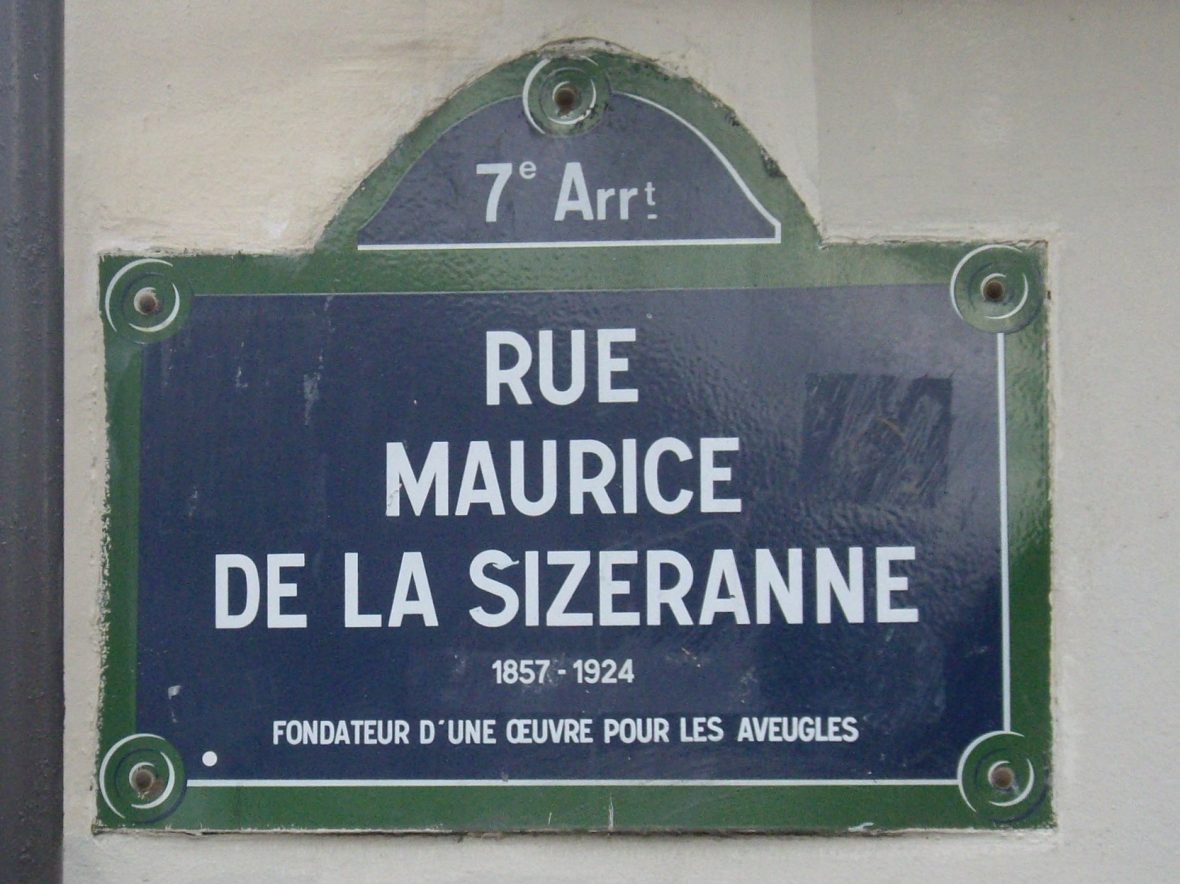 Paris street signs, Paris, France, Sizeranne