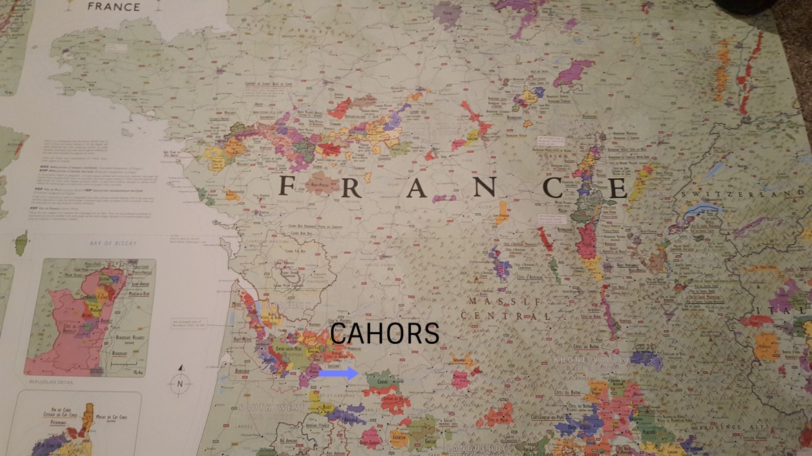 Cahors Mapa