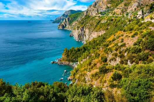 amalfi coast bay beach blue