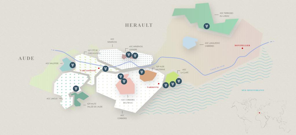 Carcassonne, Narbonne, wine, Corbiers, Terrasses du Larzac, Montpellier, Minervois